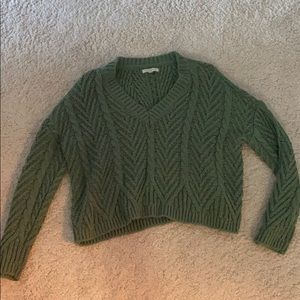 Dark Green V-Neck Sweater